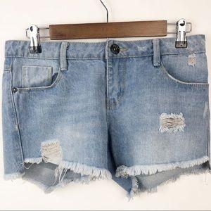 hype | Distressed Frayed Hem Cutoff Shorts | S